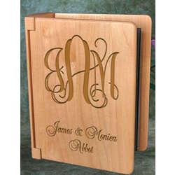 Personalized Monogram Wooden Photo Album
