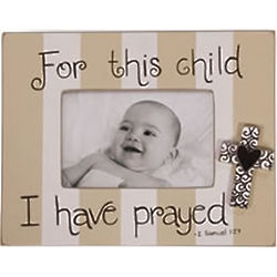 For This Child I Have Prayed Beige Wooden Photo Frame Findgiftcom