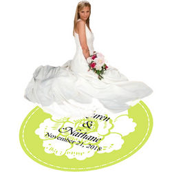 White Floral Dance Floor Decal