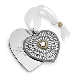 2011 Make-A-Wish Heart Christmas Ornament