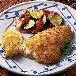 Lemon-Breaded Cod Fillets