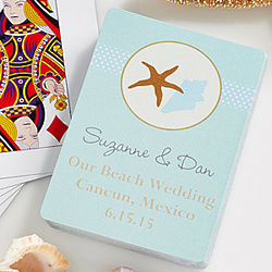 Personalized The Beach Playing Card Wedding Favors