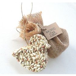 Bird Seed Bird in Burlap Bag Party Favor