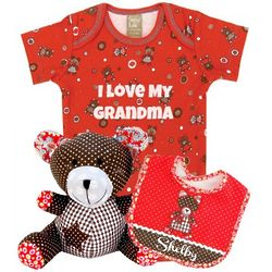 Teddy Bear Baby Gift Set Trio