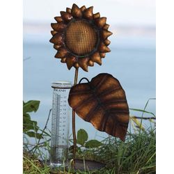 Sunflower Rain Gauge
