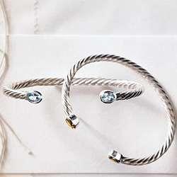 Silver Moonstone Birthstone Cuff Bracelet