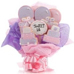 Sweet Sixteen Cookie Bouquet