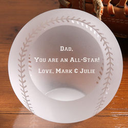You're an All Star Personalized Crystal Baseball