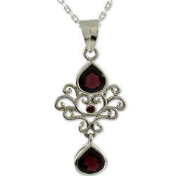 Scarlet Crown Garnet Pendant