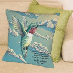 Personalized Hummingbird Memorial Throw Pillow