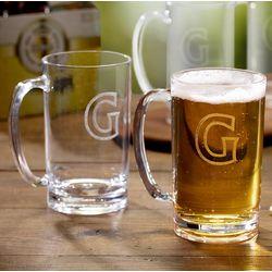 Personalized Initial Acrylic Beer Mug