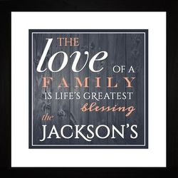Life's Greatest Blessing Personalized Framed Art Print