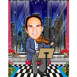 Your Photo in a Violinist Caricature
