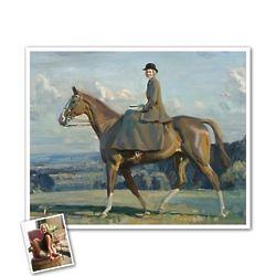 Classic Painting Barbara on Horseback Personalized Art Print