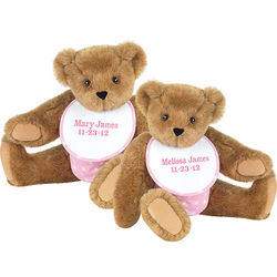 "15"" Twin Girl Bears Set"