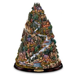 Thomas Kinkade Tranquil Mountain Village Tabletop Tree