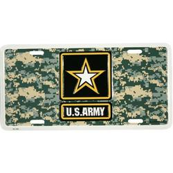 US Army Star Logo on ACU Camo License Plate