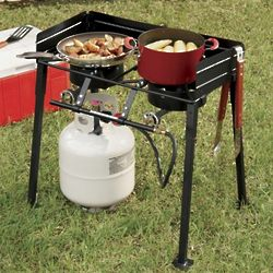 Double-Burner Propane Stove