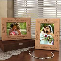 Personalized BFBF Wooden Picture Frame