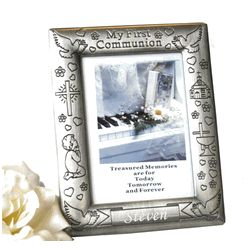 Pewter Finish First Communion Frame