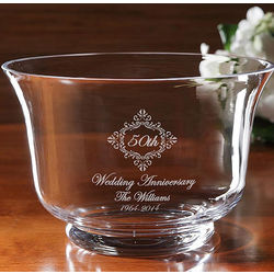 Personalized Anniversary Crystal Bowl