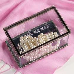 Glass Memory Box for Bridesmaids