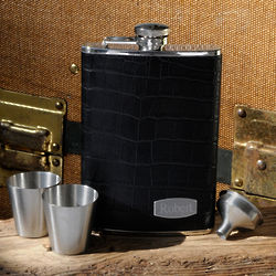 Personalized Executive Leather Flask