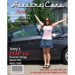 Awesome Cars Personalized Magazine Cover