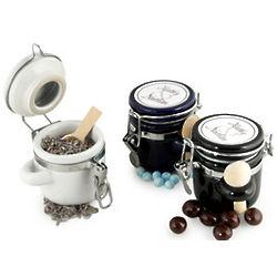 Mini Sugar and Spice Ceramic Jar and Scoop