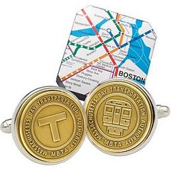Sterling Boston Subway Cuff Links