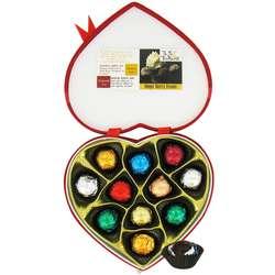 Tea-Infused Organic Truffles in Velvet Heart Box