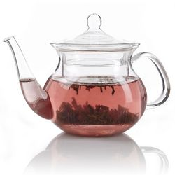 Pagoda Clear Glass Teapot