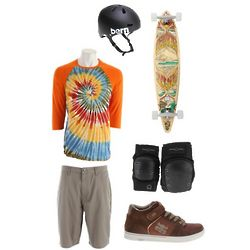 Hippie Jump Skaterboarder's Apparel Gift Set