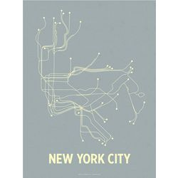 Famous Cities Transit System Line Poster