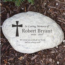 Engraved Memorial Garden Stone