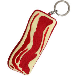 Sizzlin' Plush Bacon Keychain