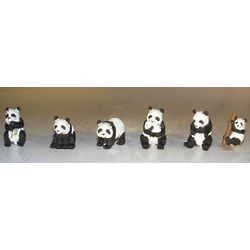 Miniature Panda Figurines