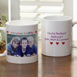 Personalized Photo Message Small Coffee Mug
