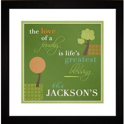 Love of a Family Personalized Framed Art Print