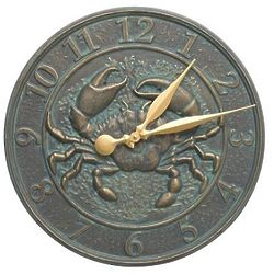 "16"" Crab Sea Life Indoor/Outdoor Clock"