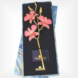 3 Flower Spray Gold Accented Preserved Orchid