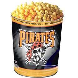Pittsburgh Pirates 3 Way Popcorn Tin