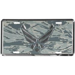 US Air Force Wing Logo on ABU Camo License Plate