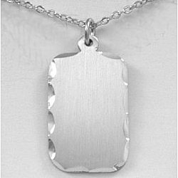 Engravable Rectangle Pewter Pendant