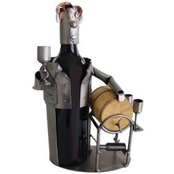Handmade Wine Taster Recycled Metal Wine Caddy