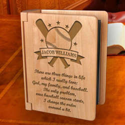 Personalized Baseball All-Star Wooden Photo Album