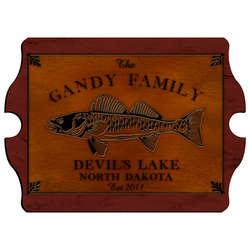 Walleye Vintage Cabin Sign