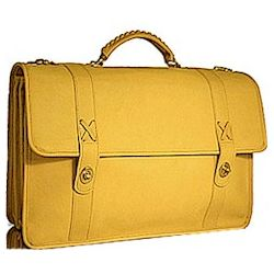 Double Gusset Baseball Glove Leather Briefcase