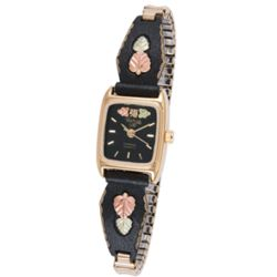 Ladies' Midnight Eclipse Gold Accent Watch