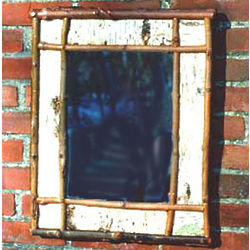 Rustic Birch Framed Mirror